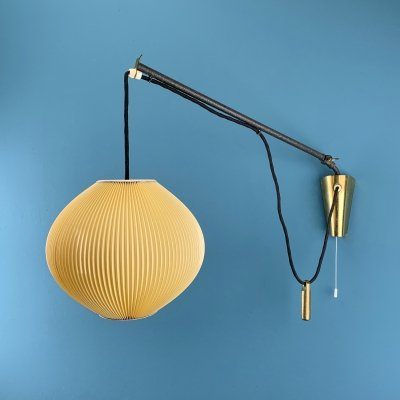 1950s adjustable wall lamp with counterweight