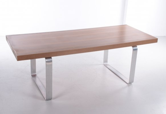 Retro Vintage Coffee Table in Wood & Chrome, 1970s