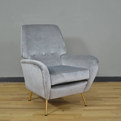 Model Camea reclining armchair by Franchi Renzo for Camerani, Italy 1950s