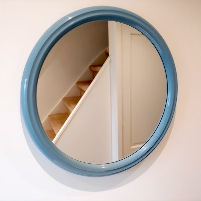 Space Age Design Vintage Plastic Wall Mirror by Tiger Plastics Holland, 1970s