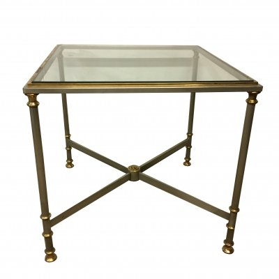 Empire coffee table in chrome & brass, 1970s