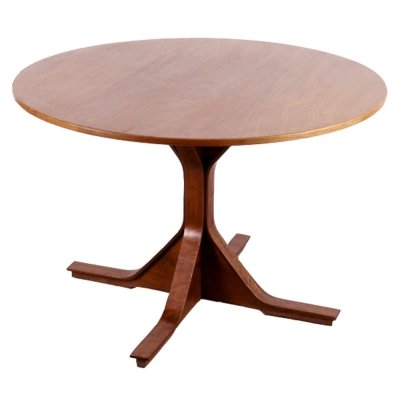 Round Table Mod. 522 in Indian Rosewood by G.F Frattini for Bernini, 1960