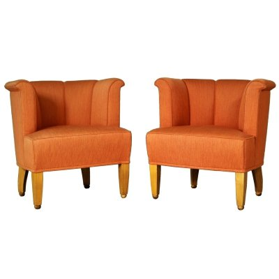 Pair of Alleegasse Lounge Chairs by Josef Hoffmann for Wittmann, 1990s