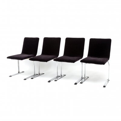 Set of 4 Saporiti Dining Chairs by Giovanni Offredi, 1970s