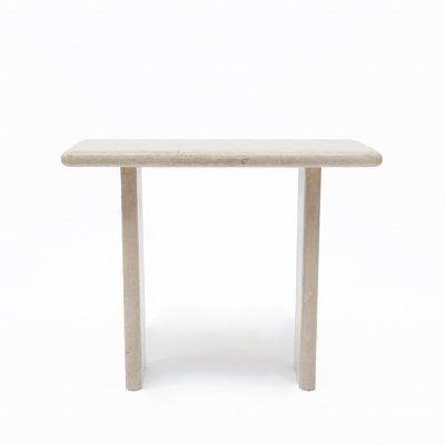Mid-Century Modern travertine console table / side table, 1970s