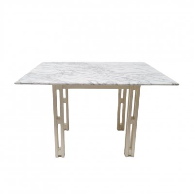 Square dining table in Carrara Marble & beech wood