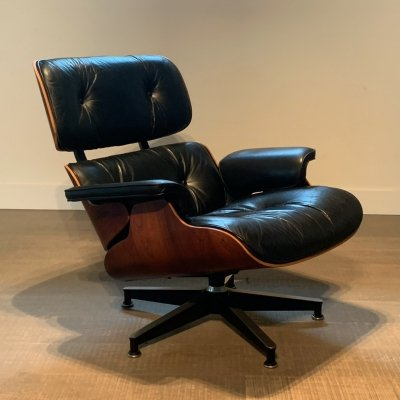 Eames Rosewood Lounge chair for Herman Miller, 1970s