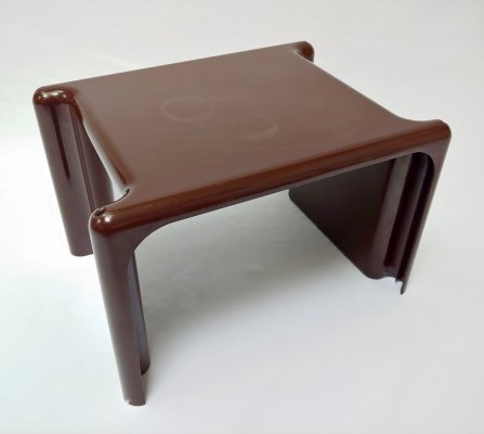 Vintage Brown Plastic 'Scagno' Side Table by Giotto Stoppino for Elco, 1960s