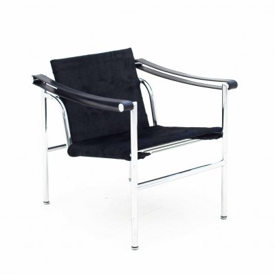Black Le Corbusier LC1 Lounge Chair for Cassina, 1990s