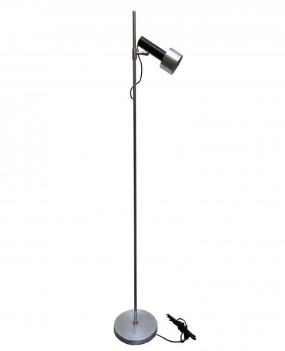 Chrome & Lacquered Metal Stilux Floor Lamp with Adjustable Shade, 1960s