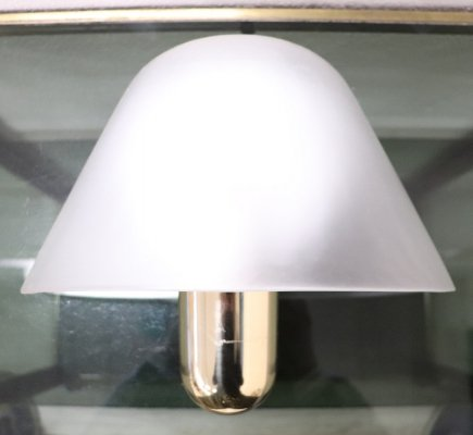 Italian Brass & Murano Glass Sconce by Veart, 1970s