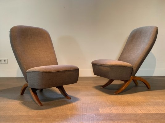 Pair of Artifort Congo chairs by Theo Ruth, 1950s