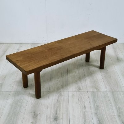 Solid wood mid century bench, 1950s