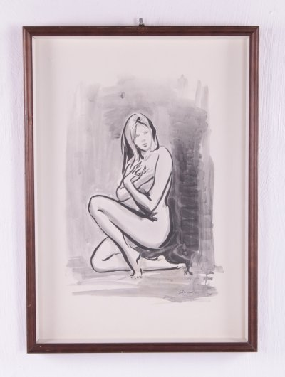 'Naked woman' Drawing, 1960s