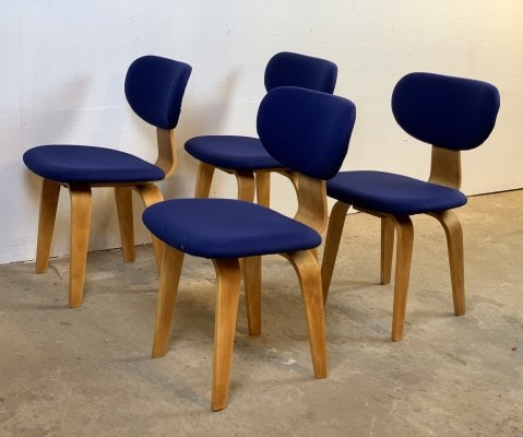 Set of 4 'SB02' chairs by Cees Braakman for Pastoe, 1950s