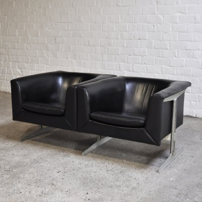 Leather Model 042 Divided Sofa by Geoffrey Harcourt for Artifort, 1963