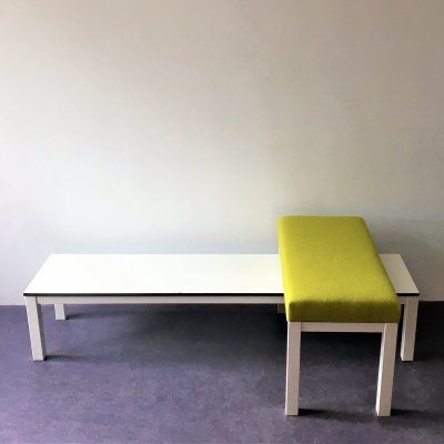 Set of low (plant) table & ottoman or stool by Tjerk Reijenga for Pilastro
