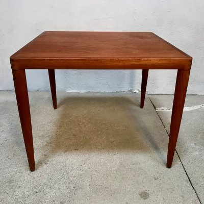 Danish Square Teak Side or Coffee Table by H.W. Klein for Bramin, 1960s
