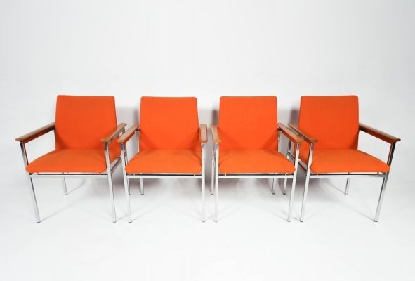Set of 4 Vintage Modernist Chairs by Sigvard Bernadotte, 1960s