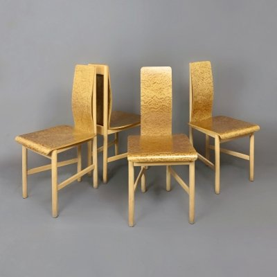 Set of 4 'Vela' chairs by Enzo Mari for Driade, 1980s