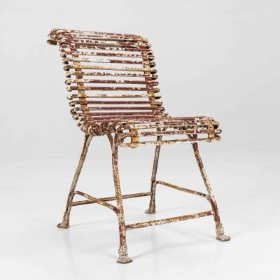 Wrought iron garden chair from the Arras region in France, c.1860