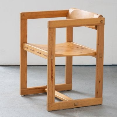 Edvin Helseth for Trybo Furniture Chair in Massive Pine, Norway 1964