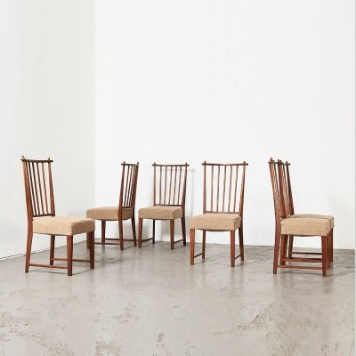 Rare set of 6 Dining Chairs by Bas van Pelt for My Home, 1930s