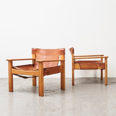 Karin Mobring Pair of Natura Lounge Chairs, Sweden 1970s