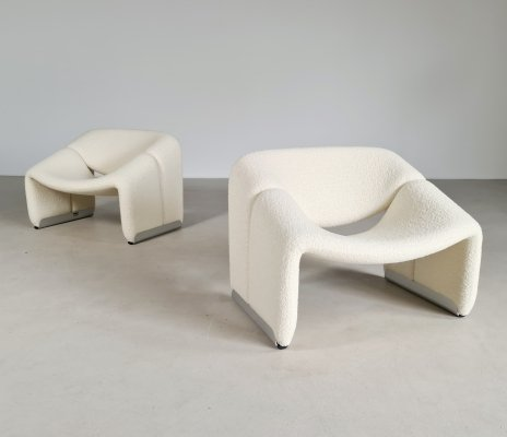 Set of 2 Groovy chairs by Pierre Paulin for Artifort, 1970s