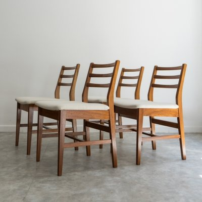 Set of 4 Teak Mid Century chairs by A. Younger, UK 1960's