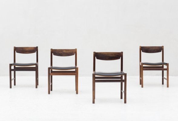 Set of 4 dining chairs, Denmark 1960's