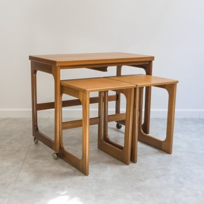 Set of table & stools by A.H. Mcintosh & Co, UK 1960's