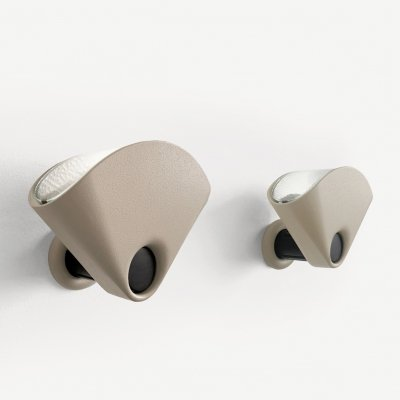 Pair of Bollo wall lamps by Tobia Scarpa for Flos, 1970s