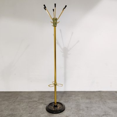 Vintage modernist coat stand by Jacques Adnet, 1950s