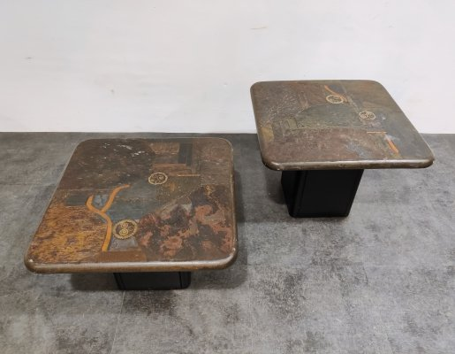 Pair of vintage side tables by C. Kneip, 1988