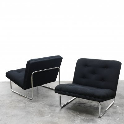 Pair of F656 lounge chairs by Kho Liang Ie for Artifort, 1970s