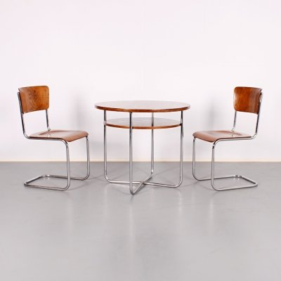 Tubular Table & Chairs by Mart Stam, 1930s