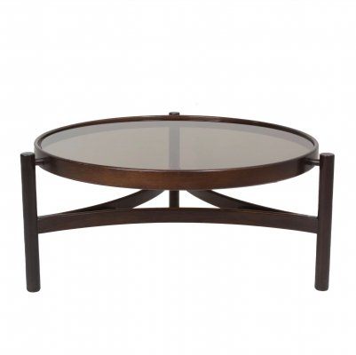 Round Italian Modern Coffee Table Model 775 by Gianfranco Frattini for Cassina, 1960s