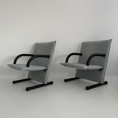 Set of 2 lounge chairs by Burkhard Vogtherr for Arflex T-line, 1980's