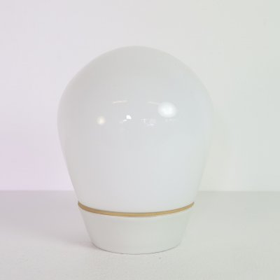 Glass ceiling lamp with porcelain by Wilhelm Wagenfeld, 1960s
