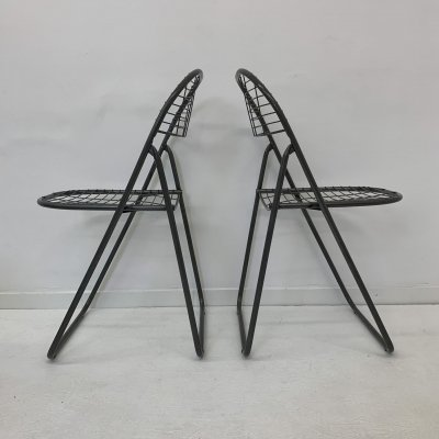 Set of 2 vintage wire chairs by Niels Gammelgaard for Ikea , 1980's