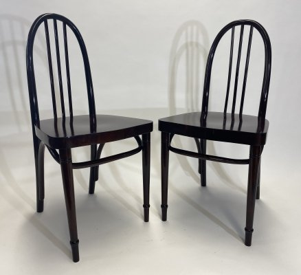 Pair of secession Josef Hoffmann chairs by Thonet