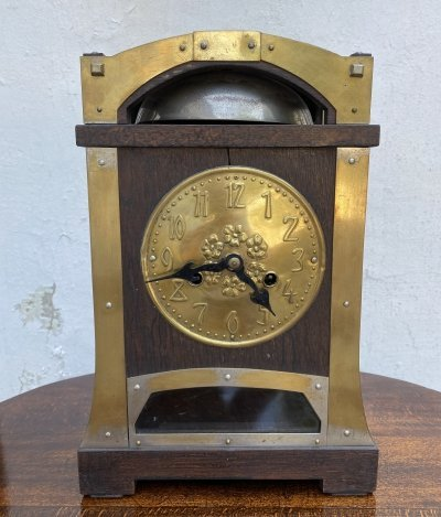 Secession mantel clock by Gustave Serrurier Bovy
