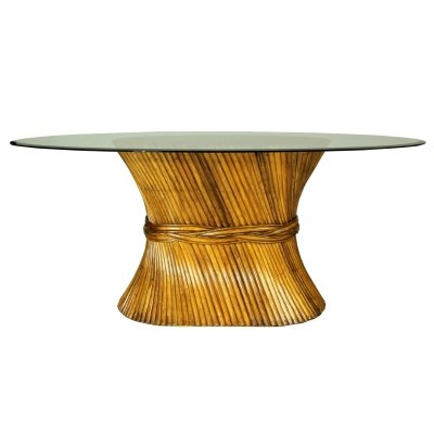 Sheaf of Wheat Bamboo Dining Table from McGuire, 1970s