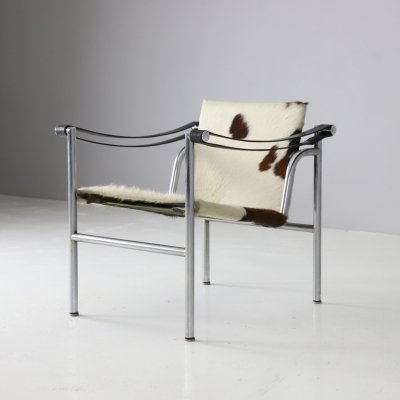 Early LC1 lounge chair by Le Corbusier & Pierre Jeanneret for Cassina, 1960s