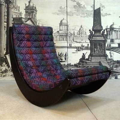 Rocking Chair Relaxer 2 by Verner Panton for Rosenthal with Original Cover, 1974