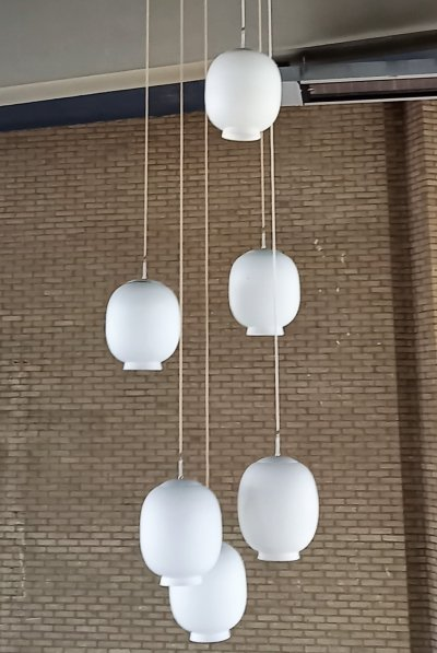 Vintage Philips chandeliers from a modernist church, The Netherlands 1960's