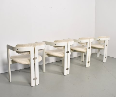 Set of 4 'Pamplona' chairs by Augusto Savini for Pozzi, Italy 1970s