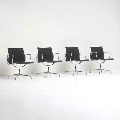 Set of 4 EA108 office chairs by Charles & Ray Eames for Vitra, 1990s