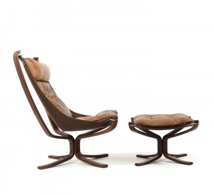 Falcon Lounge Chair & Ottoman by Sigurd Ressell for Vatne Møbler